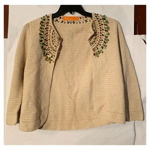 Cynthia Steffe Cardigan with Colorful Jewels